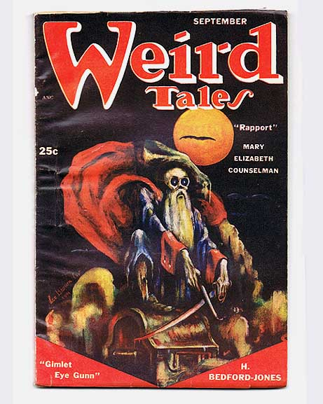Weird Tales September 1951. H. Bedford. SMITH JONES, etc, Seabury, Clark Ashton. QUINN.