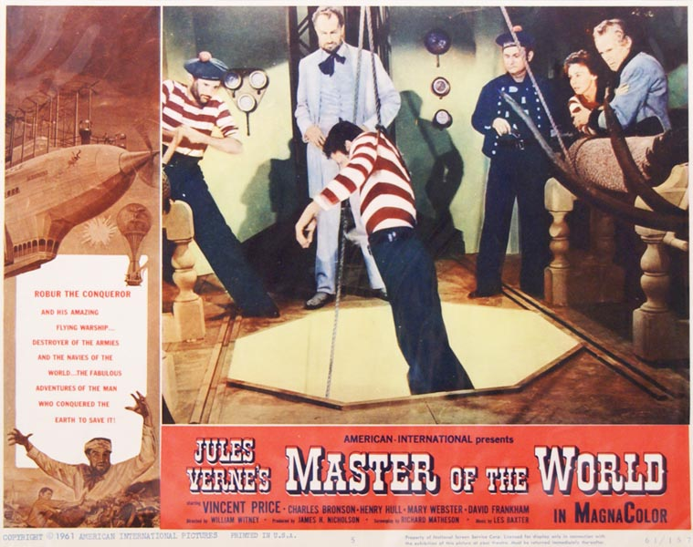 Master of The World. Jules VERNE, Gabriel, LOBBY CARD.