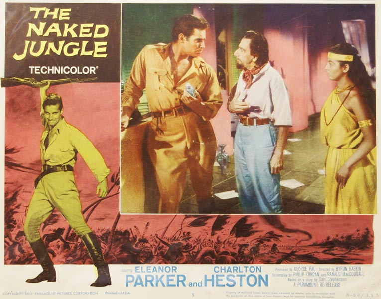 The Naked Jungle. LOBBY CARD.
