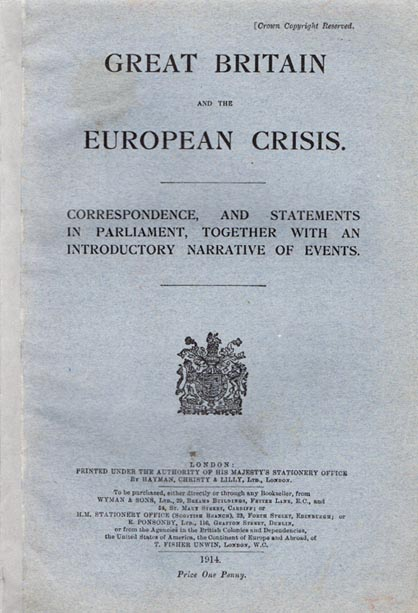 Great Britain and the European Crisis. Correspondence, and Statements In Parliament, together with an Introductory Narrative of Events. ANONYMOUS.