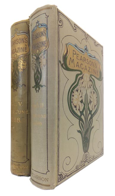 contribute 'Real Ghost Stories' to 'PEARSON'S MAGAZINE' An Illustrated Monthly, in original cloth binding. Flaxman LOW, Baroness, ORCZY.