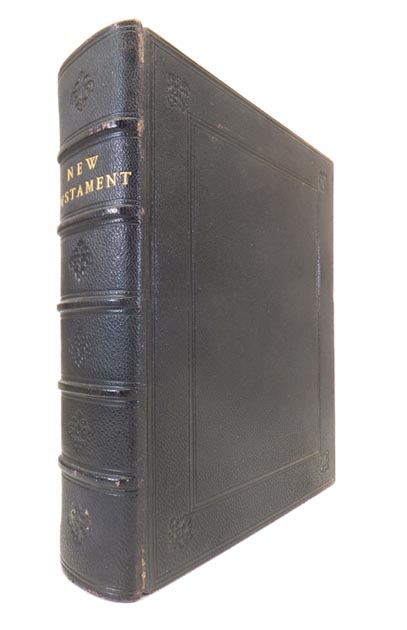 The New Testament, Of Our Lord and Saviour Jesus Christ. With Engravings on Wood from Designs of Fra Angelico, Pietro Perugino, Francesco Francia, Lorenzo Di Credi, Fra Bartolommeo, Titian, Raphael, Gaudenzio Ferrari, Daniel Di Volterra, and Others. BIBLE.