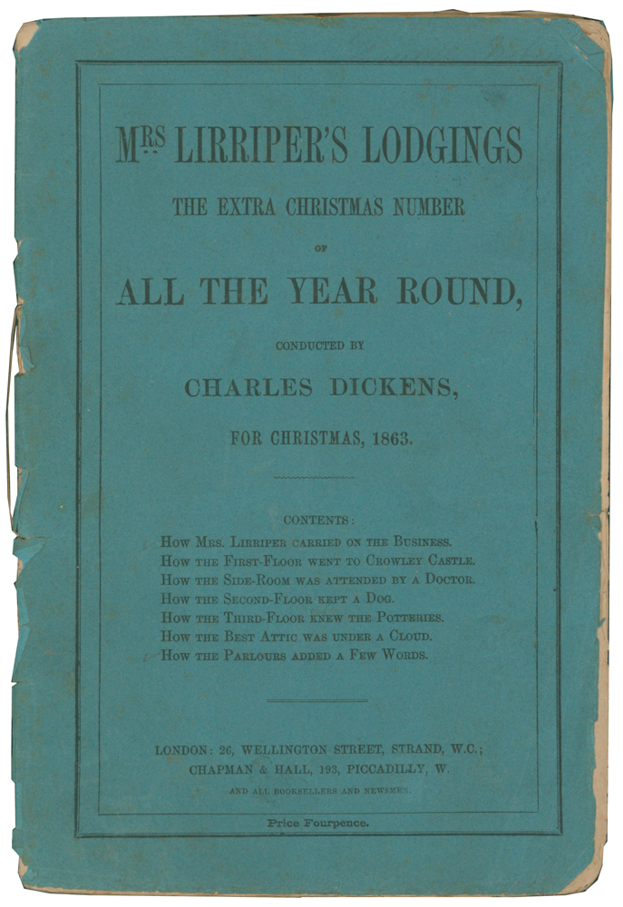 Mrs. Lirriper's Lodgings, The Extra Christmas Number of All The Year Round, for Christmas, 1863. Charles DICKENS.