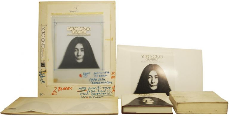 [Material relating to] Grapefruit. Works and Drawings by Yoko Ono. Introduction by John Lennon. Yoko ONO, John LENNON.