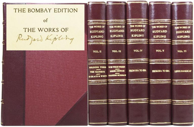 The Bombay Edition of the Works of Rudyard Kipling. [Set of writings / novels / poems including: The Jungle Book, Kim, Wee Willie Winkie, Just So Stories, Captain Courageous, Rewards and Fairies, Stalky and Co, Puck of Pook's Hill, Rewards and Fairies, etc.]. Rudyard KIPLING, Joseph.