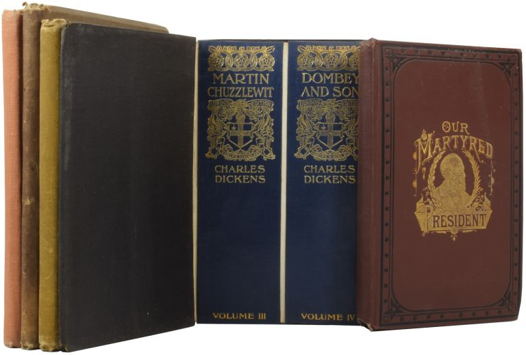 [Five Publishers' Sample Books]. 'Our Martyred President: The Life and Public Services of Gen. James A. Garfield'; 'The London Dickens'; 'The Klondike Gold Fields'; 'Canada Under the Administration of Lord Dufferin'; 'Earl Kitchener and the Great War'. James D. MCCABE, Charles DICKENS, A. C. HARRIS, George STEWART, Captain Logan HOWARD-SMITH.
