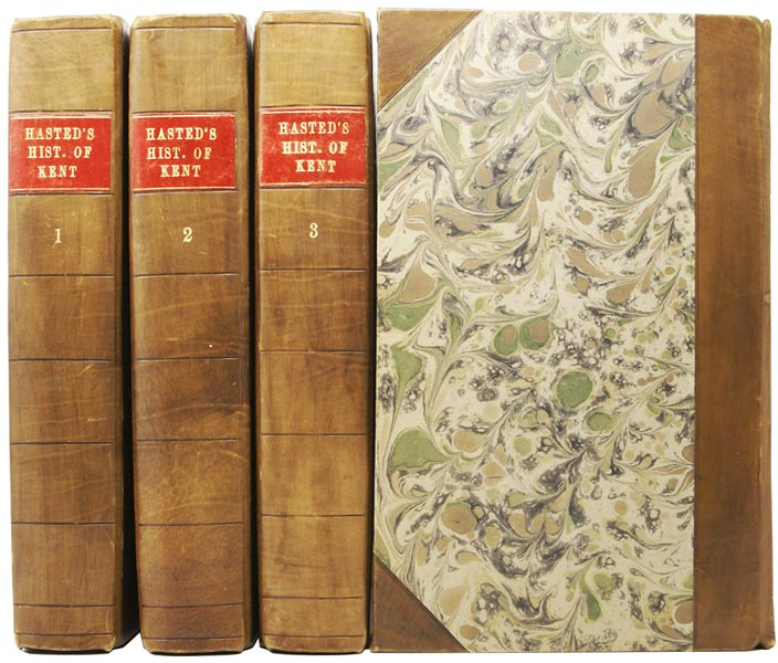 The History and Topographical Survey of the County of Kent. Containing the Antient [Ancient] and Present State of it, Civil and Ecclesiastical; Collected from public Records, and other the best Authorities, both Manuscript and Printed: and Illustrated with Maps, and Views of Antiquities, Seats of the Nobility and Gentry, etc. Edward HASTED.