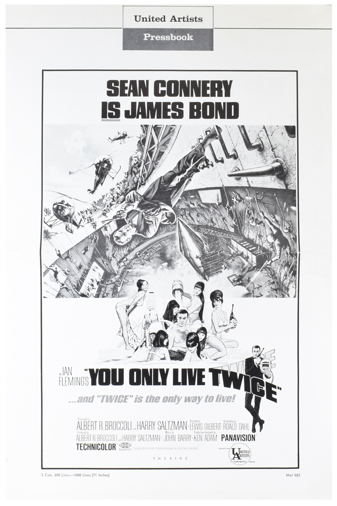 You Only Live Twice. Press Book [Exhibitor's Campaign Book]. Ian FLEMING.