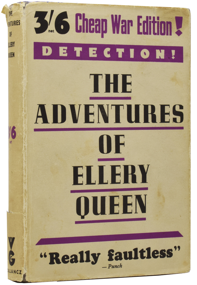 The Adventures of Ellery Queen, Problems in Deduction. Frederic DANNAY, Manfred Bennington LEE, 1905–1982, 1905–1971.