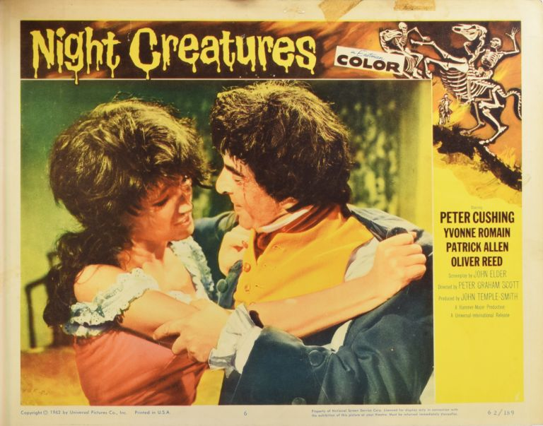 Night Creatures (aka Captain Clegg). LOBBY CARD.