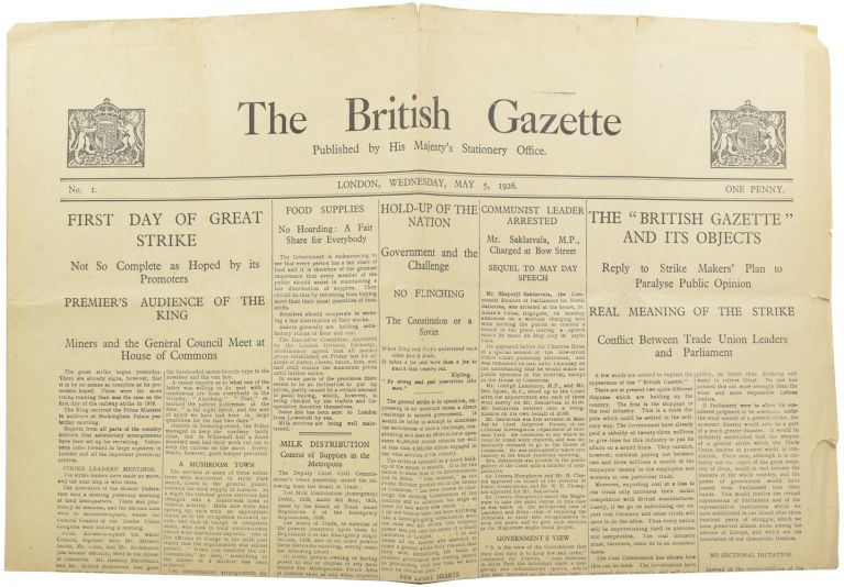 The British Gazette. Winston Spencer CHURCHILL, Sir.