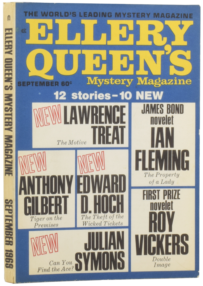 contribute to...'ELLERY QUEEN'S MYSTERY MAGAZINE'. Ellery QUEEN, Anthony, GILBERT, Ian, FLEMING, ed. pseud.