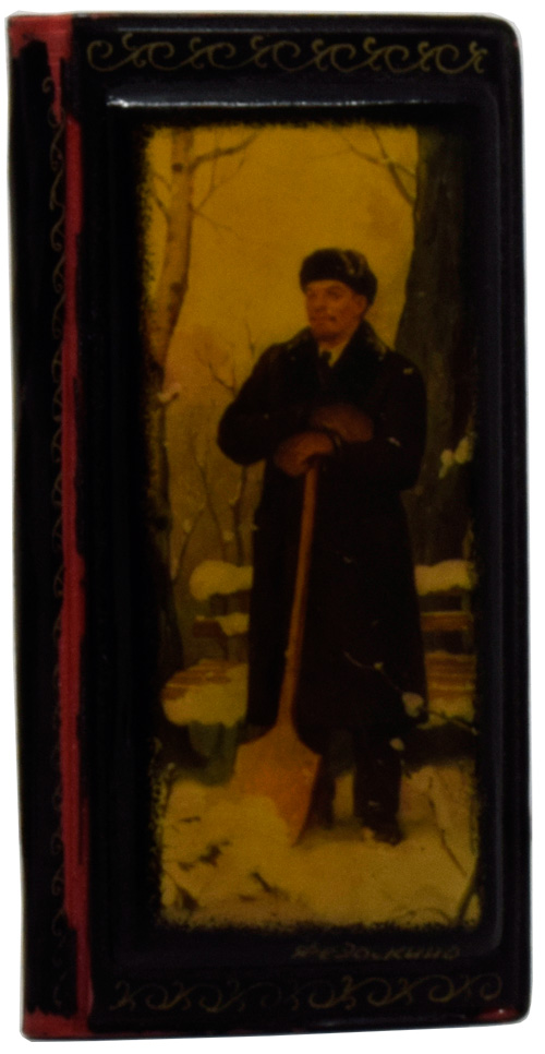 [Enamelled Russian Address Book featuring a Winter portrait of Lenin]. ANONYMOUS.