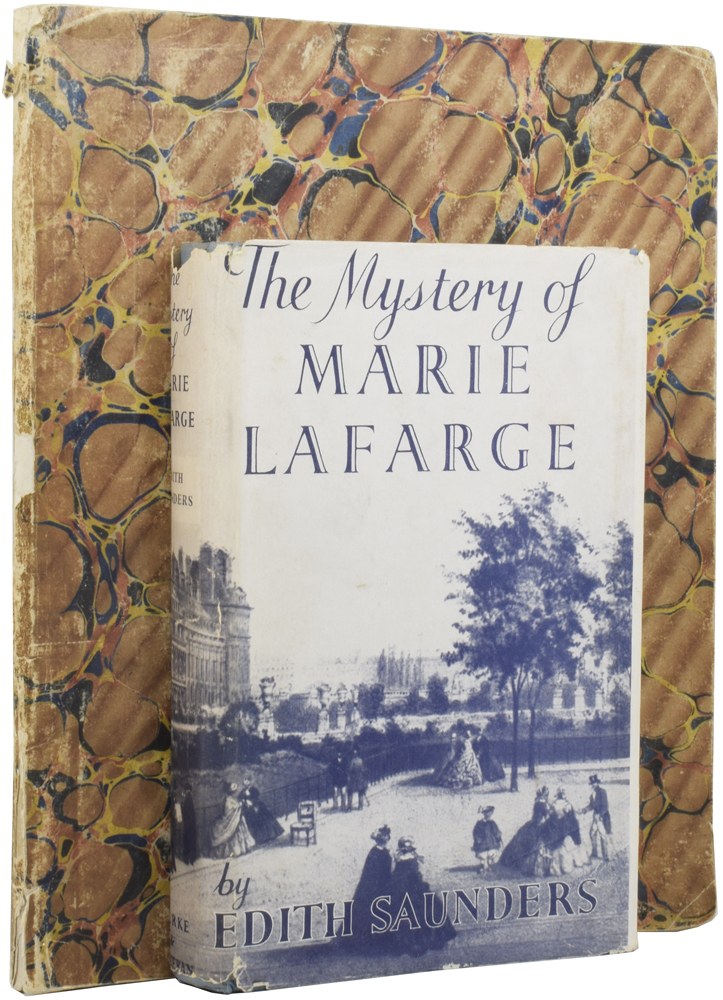 [The Trial of Madame Laffarge for Poisoning her Husband], The Mystery of Marie Lafarge. Edith SAUNDERS.