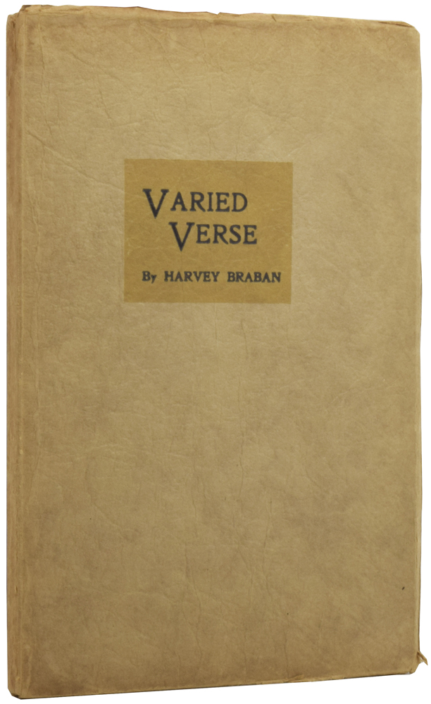 Varied Verse. Harvey BRABAN.
