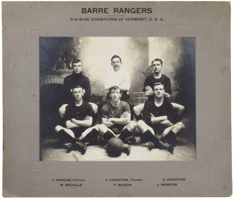 [Photographs of Barre Rangers Foot Ball Club, United States Football Association, 1913]. ANONYMOUS.