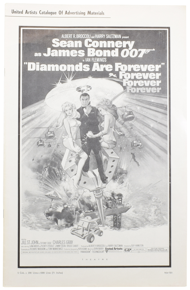 Diamonds Are Forever. Press Book [Exhibitor's Campaign Book]. Ian FLEMING.