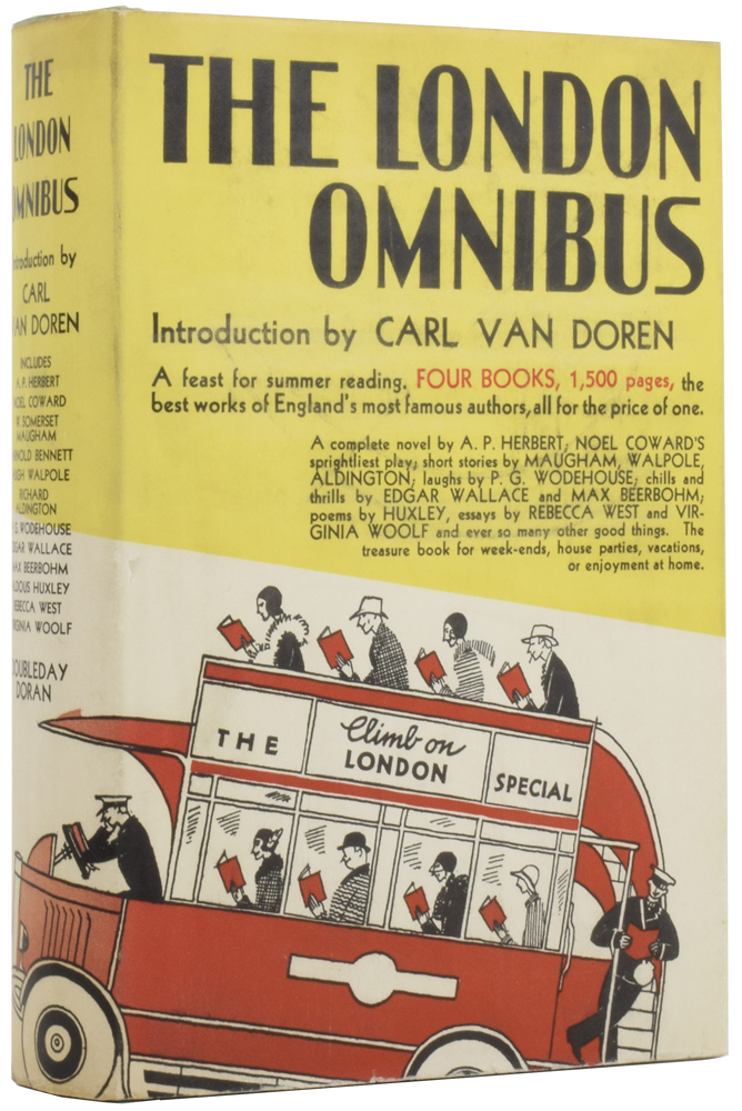 Jeeves and the impending Doom [within] The London Omnibus. Introduction by Carl Van Doren. P. G. WODEHOUSE, Pelham Grenville, H. G. WELLS, Virginia, WOOLF.