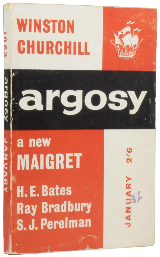 Escape [and] According to the Altar Boy [in] Argosy. SIMENON CHURCHILL, BRADBURY, BATES.
