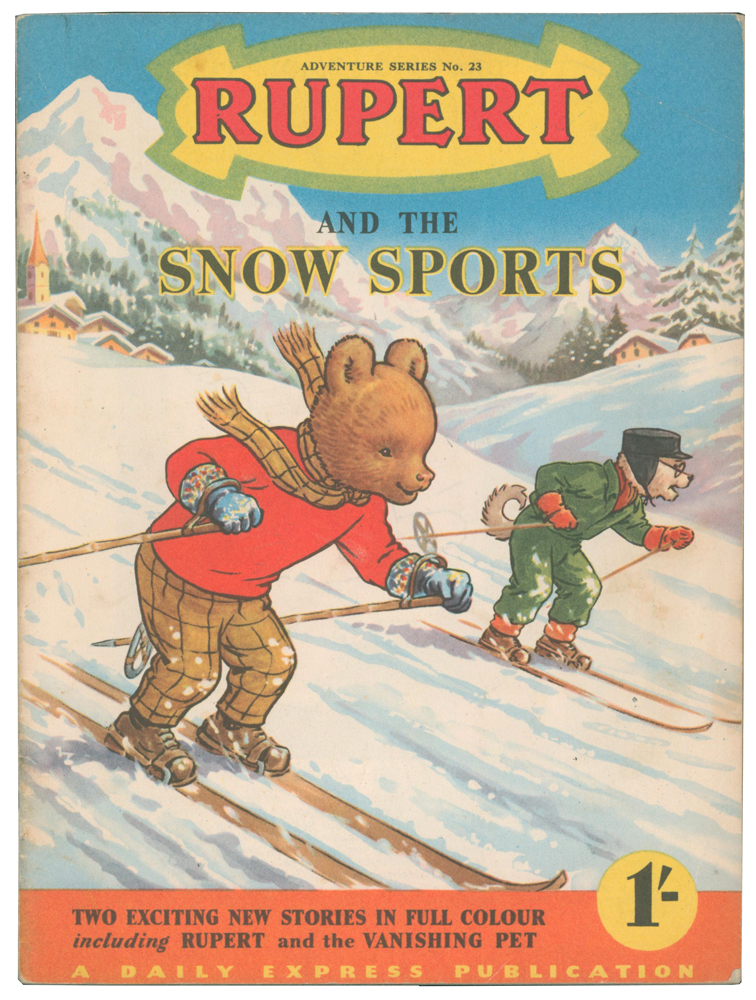 Rupert and the Snow Sports [and Rupert and the Vanishing Pet]. Adventure Series No. 23. Enid ASH, Alex CUBIE, illustrators.
