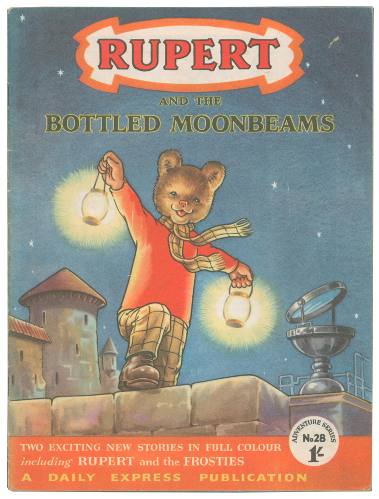 Rupert and the Bottled Moonbeams [and Rupert and the Frosties]. Adventure Series No. 28. Enid ASH, Alex CUBIE, illustrators.
