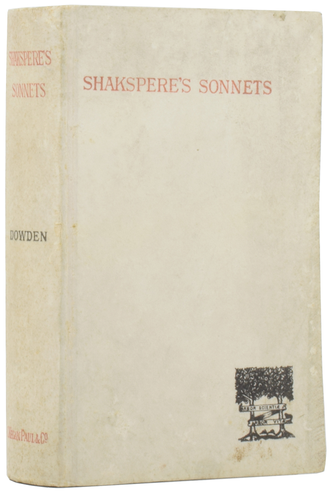The Sonnets of Shakspere. William SHAKSPERE, Edward DOWDEN.