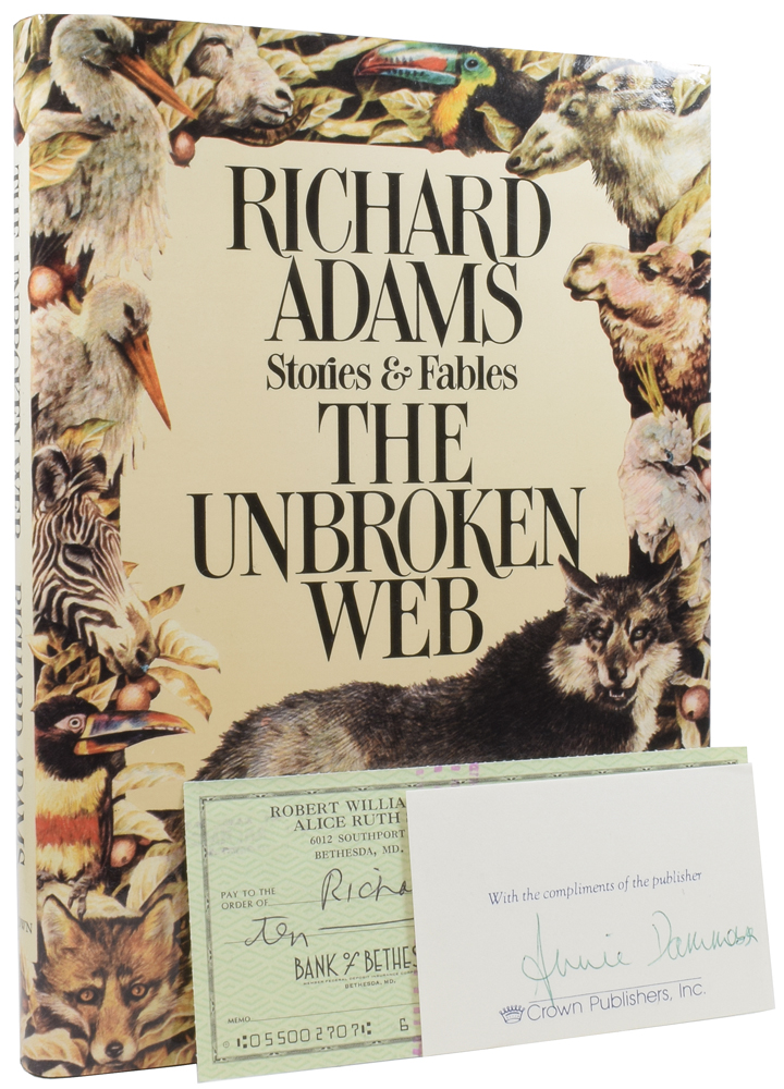 The Unbroken Web: Stories and Fables. Yvonne GILBERT, Jennifer CAMPBELL, illustrators, Richard ADAMS.