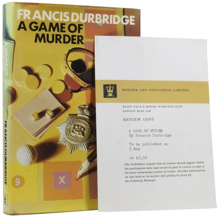 A Games of Murder. Francis DURBRIDGE.