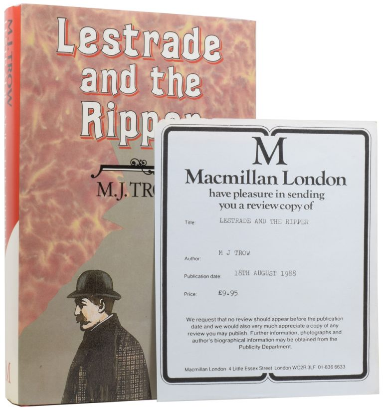 Lestrade and the Ripper. M. J. TROW, born 1949.