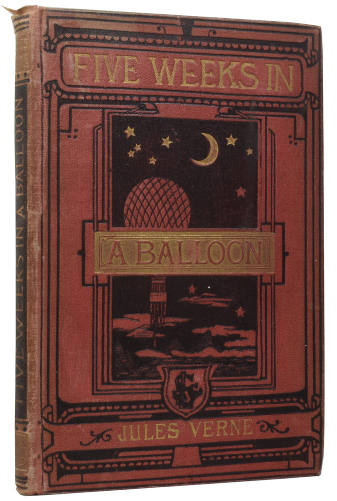 Five Weeks In a Balloon. A Voyage of Exploration and Discovery in Central Africa. Jules VERNE, Gabriel, Édouard RIOU.