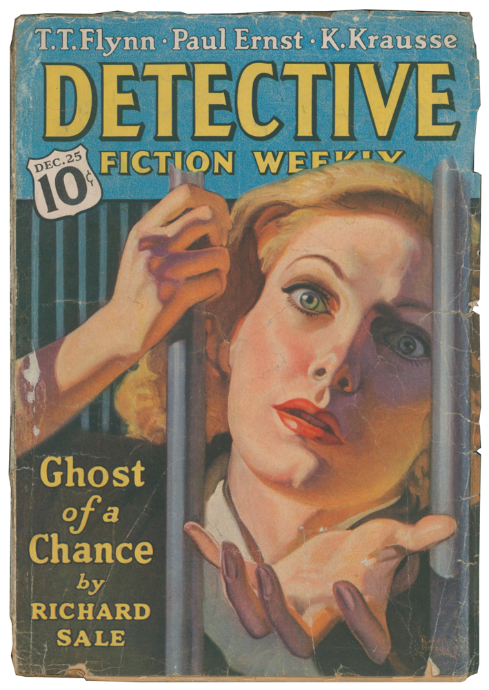 """The Oriental Mind [and] Ghost of a Chance [in] Detective Fiction Weekly. Volume CXVI, Number 2. """"SAPPER"""", Richard SALE, Herman Cyril MCNEILE."""