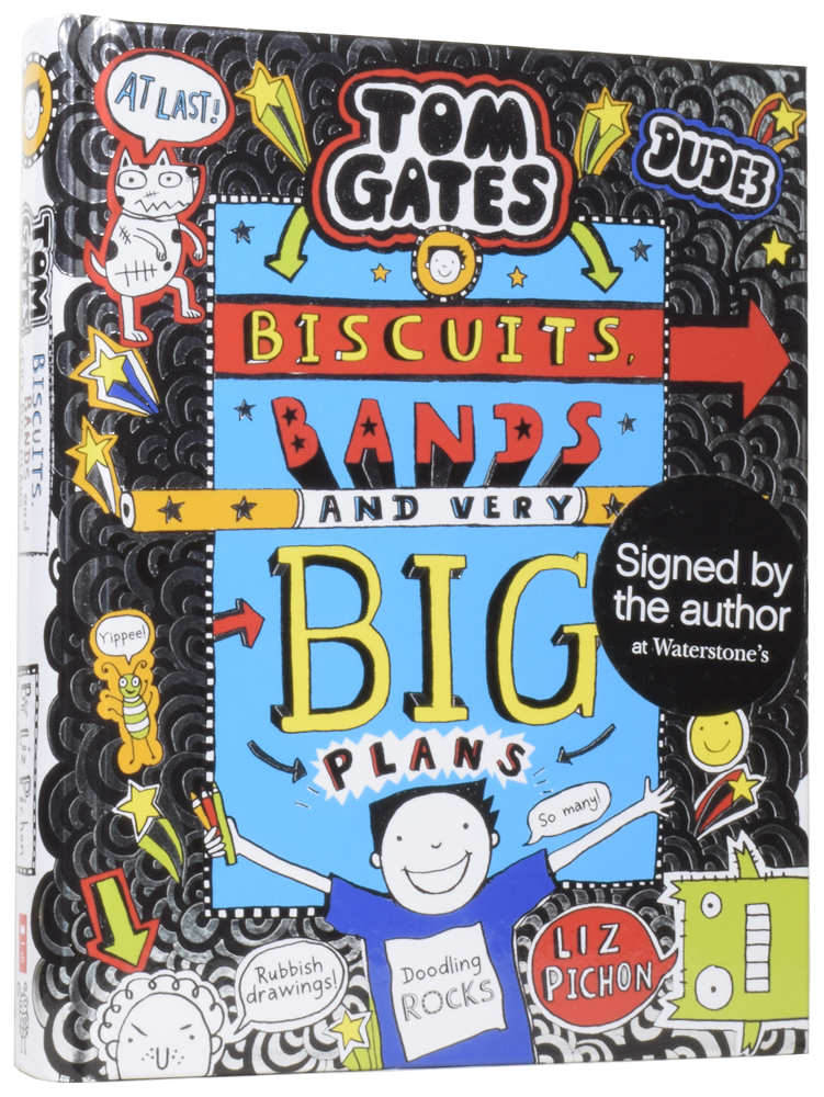 Tom Gates: Biscuits, Bands, and Very Big Plans. Liz PICHON, born 1963.