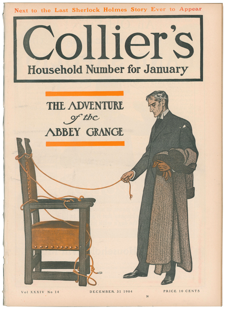 The Adventure of the Abbey Grange [in] Collier's Weekly. Volume XXXIV, Number 14. Arthur Conan DOYLE, Sir.