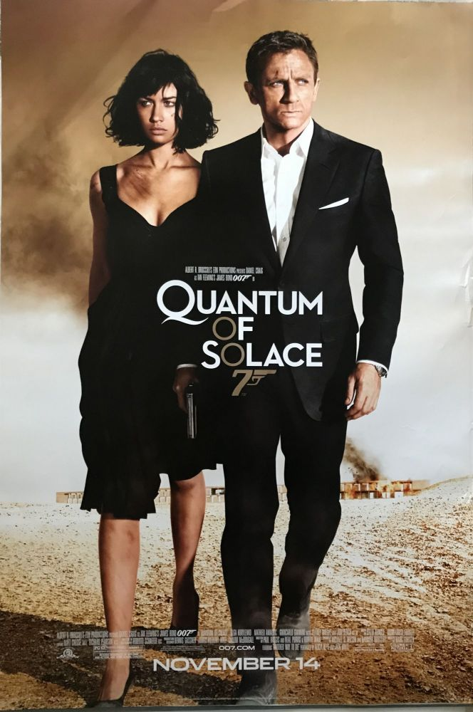 [MOVIE POSTER] Quantum of Solace. Ian Lancaster FLEMING.