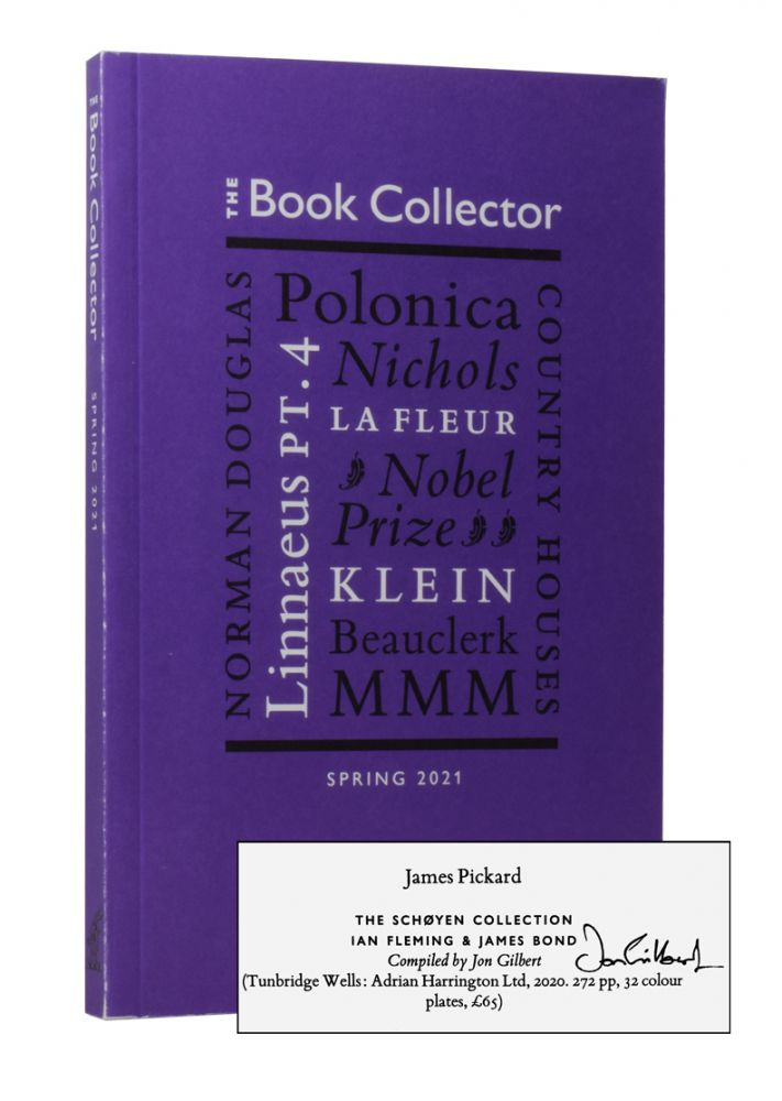 The Book Collector. Autumn 2020. Edited by James Fleming. BIBLIOGRAPHY, Authors, Nicolas Barker James Fleming, Jon Gilbert.