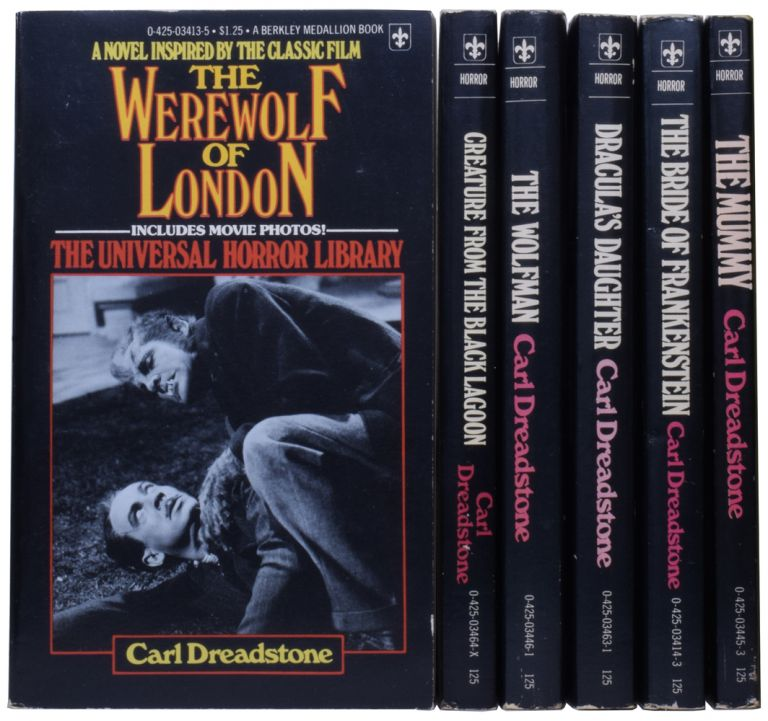Complete Universal Horror Library. The Werewolf of London; Creature from the Black Lagoon; The Wolfman; Dracula's Daughter; The Bride of Frankenstein; The Mummy. Ramsey House Name for CAMPBELL, Walter HARRIS, born 1946, born 1925.