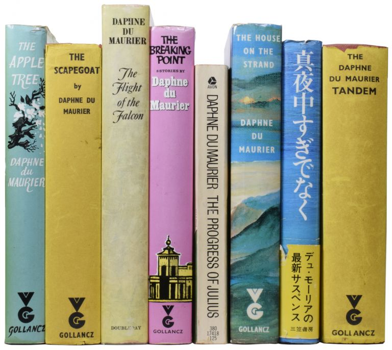 [An Archive of Books and Letters Inscribed to John Reece]. The Daphne du Maurier Tandem (My Cousin Rachel and Mary Anne); The Scapegoat; The Flight of the Falcon; The House on the Strand; Vanishing Cornwall; The Apple Tree; The Breaking Point; Not After Midnight; The Progress of Julius; Golden Lads; The Winding Stair; Growing Pains. Daphne DU MAURIER, 1907–1989, Dame.