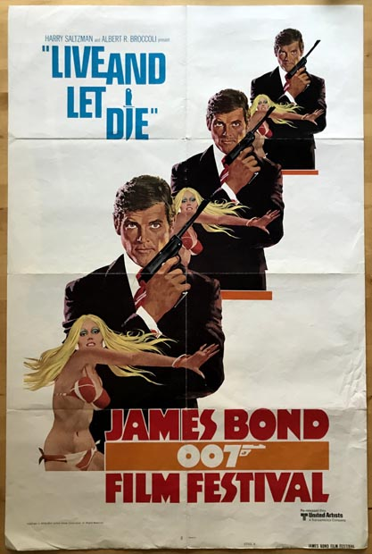 [MOVIE POSTER] Live and Let Die. James Bond 007 Festival (style A). Ian Lancaster FLEMING.