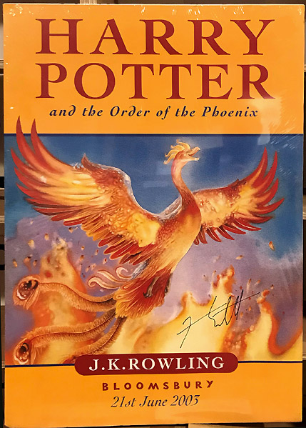[Book Promotion POSTER] Harry Potter and the Order of the Phoenix. J. K. ROWLING, born 1965, Jason COCKROFT.