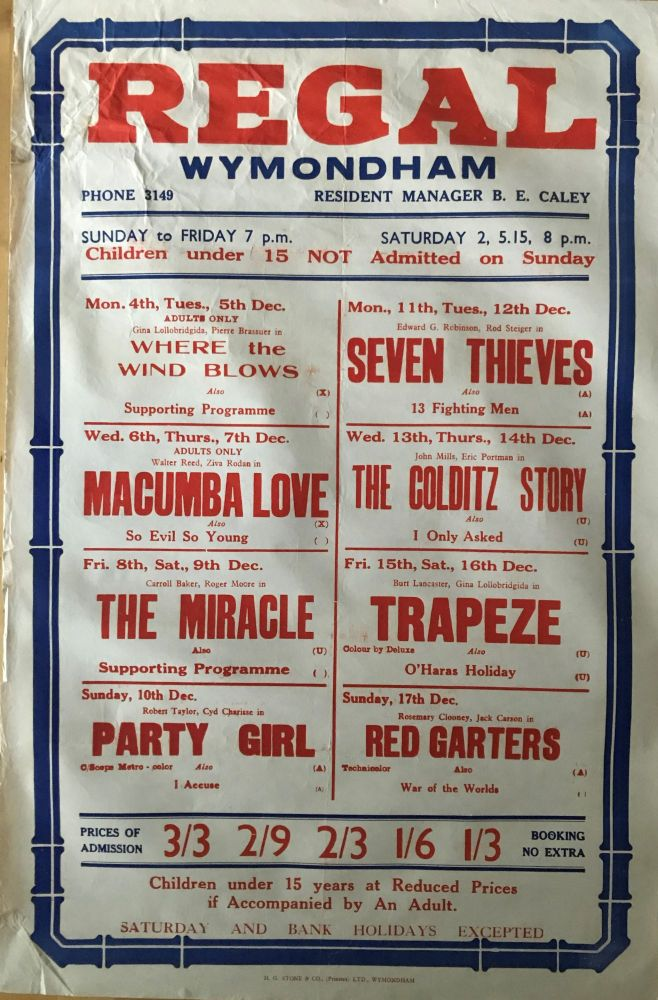 [MOVIE POSTER] The Colditz Story, Seven Thieves, War of The Worlds, etc. Film Promotion.