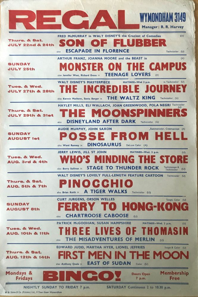[MOVIE POSTER] Pinocchio, Incredible Journey, etc. Film Promotion.