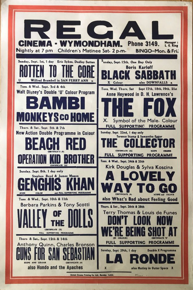 [MOVIE POSTER] Bambi, The Collector, Valley of the Dolls etc. Film Promotion.