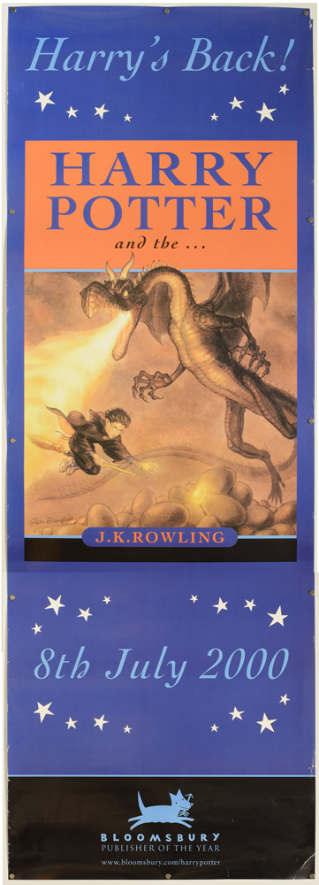 [Promotional Book poster] Harry Potter and the Goblet of Fire. J. K. ROWLING.