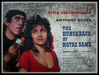 The Hunchback of Notre Dame. MOVIE POSTER, Victor HUGO