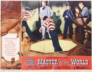Master of The World. Jules VERNE, Gabriel, LOBBY CARD