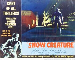 Snow Creature. LOBBY CARD