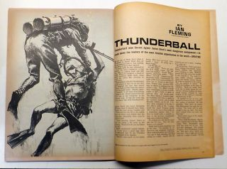 'Thunderball' (A James Bond Spy Thriller) contained within 'Argosy' magazine for men. Volume 353,...