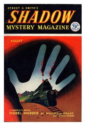 Vol. 1, No. 3, August 1954. 'Model Murder'. STREET AND SMITH'S, SHADOW MYSTERY MAGAZINE