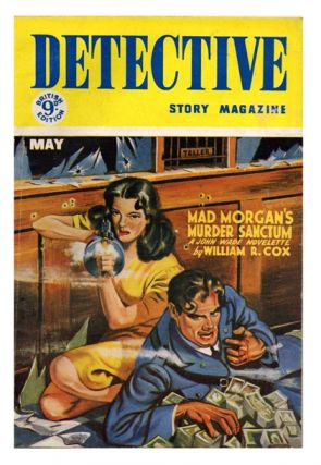 Vol. IX, No. 5, May 1954. 'Mad Morgan's Murder Sanctum'. DETECTIVE STORY MAGAZINE