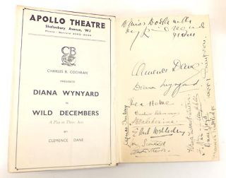 Wild Decembers: a Play in Three Acts. Clemence DANE, Winifred ASHTON, Pseudonym.